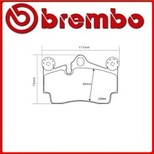 07.B315.16#10 PASTIGLIE FRENO POSTERIORE SPORTIVE BREMBO SPORT AUDI Q7 (4L) 3.6