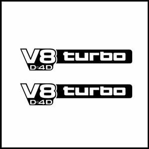 Toyota V8 turbo D4D Stickers for Landcruiser VDJ  76 70 78 79 series