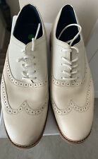 Cole Haan Wingtip Cream Leather Red Sole Men's US 8.5 M Shoes