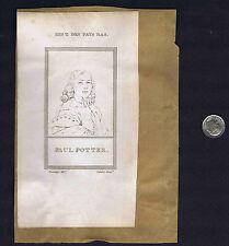 Paulus Potter, Dutch Painter & French Astronomer Peiresc- 1806 Copper Prints