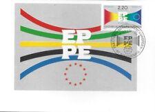 CARTE MAXIMUM - FRANCE- PARLEMENT EUROPEEN  - 1989 PREMIER JOUR