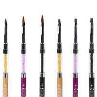Dual Head New Acrylic 3D Painting Drawing UV Gel DIY Brush Pen Tool For Nail Art