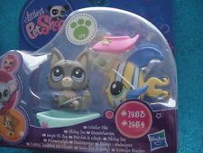 new ORIGINAL Littlest Pet Shop wolf 1953, Fish in Boat 1954 Shipping with Polish