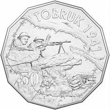 2015 Australia At War – Tobruk 50c Uncirculated Coin on Card
