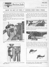 """Delta Rockwell How to set up the 17"""" Power Feed Drill Press Instructions"""