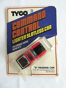 "TYCO COMMAND CONTROL LIGHTED SLOTLESS CAR ""A"" PASSING CAR BLAZER FREE POST H1"
