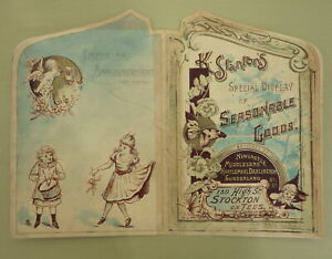 ANTIQUE HAND-PAINTED CHILDREN ADVERTISING DESIGN STANTONS SHOES STOCKTON ON TEES