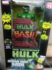 The Incredible Hulk Action Wall Bash Talking Figure Bank with Clock