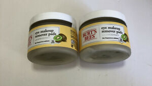 Burt's Bees Eye Makeup Remover Pads with Kiwi Extract 2 PACK 35 Pads ea FreeShip