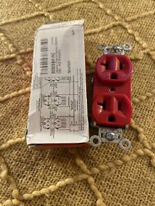 Legrand Pas & Seymour 5362 Red Receptacle