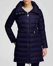 NEW  Moncler Flamette Down Coat Jacket Puffer with  Hood size 1 Navy $1395