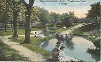 AG(P) Chicago, ILL: Scene from Rustic Bridge, Washington Park