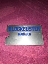 Vintage BLOCKBUSTER VIDEO Employee  Name Tag Badge RARE Manager