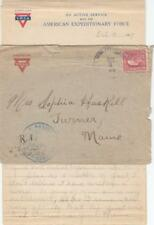1917, 5th Regiment, US Marine Corp., France, Early Usage, Letter (4869)