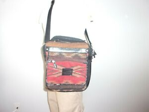 PENDLETON SOUTHWEST AZTEC Wool Messenger Travel Carry On Bag PERFECTLY BROKE IN!