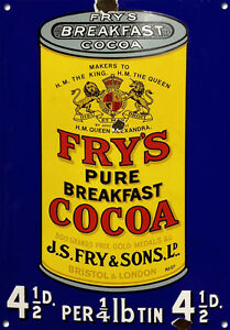 FRY'S COCOA,Vintage style, Metal sign, Collectable, Enamel, No.610