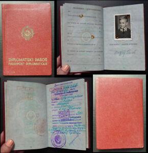 China c1966 Yugoslavia Child Diplomatic Expired Cultural Revolution Passport A1