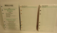Daytimer Portable Size Refills Information Pages & Diary Record (2) Day-Timer