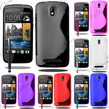 Case Covers TPU Shell Silicone Gel S-LINE Seri HTC One Desire +Films +Stylus