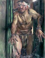 Blinded Samson by German  Lovis Corinth. Canvas History.  11x14 Print