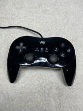 Official Nintendo Wii Classic Controller Pro Black RVL-005 OEM Tested Working