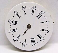 Antique No Name Pocket Watch Movement, 29 mm in size. Porcelain dial