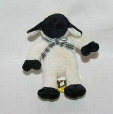 "Manhattan Toy Plush Lida Lamb Floppy Tiny NWT HTF 4"" Black Nose Sheep Toy White"