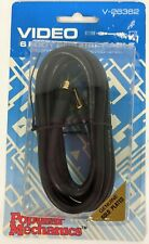 Premium RCA Coax Cable 75 Ohm AV Audio Video Cord Coaxial 6 Feet Gold Plated New