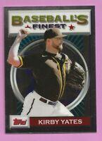 2020 Topps Baseball Finest Flashback Kirby Yates #183 San Diego Padres