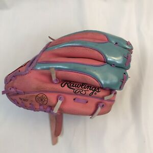 Rawlings PL158PB 9 inch Girls Rule Pink Baseball Glove - Left hand