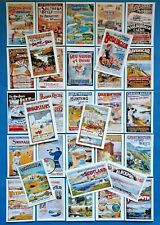 A4 Glossy Set of 32 NEW Stunning Vintage UK GB Ireland Repro Travel Posters 91M