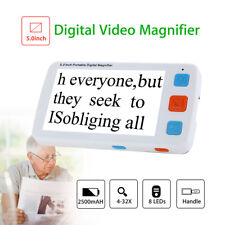 5 inch LCD Adjustable Electronic Digital Video Magnifier 4-32X Reading Zoom rate