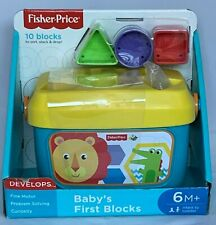 Fisher Price Baby's First Blocks (10) Sort, Stack & Drop New