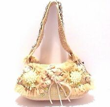 WOMEN'S SHOULDER BAG WITH BEADED DETAILING #1403
