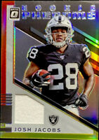 🔥 2019 Josh Jacobs RC Patch OPTIC PHENOMS RED YELLOW PRIZM Holo REFRACTOR