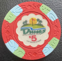 (1) $5. Dunes Casino Chip - Las Vegas, Nevada - Uncirculated