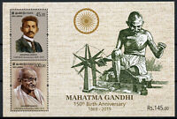Sri Lanka Mahatma Gandhi Stamps 2019 MNH Famous People Historical Figures 2v M/S