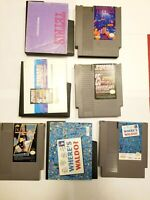 Nintendo NES 4 GAME LOT: 4 Games, 3 Manuals, All Puzzle or Trivia Themed