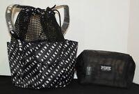 Victoria's Secret PINK Shower Caddy & Accessories/ Makeup Case *Black* BRAND NEW