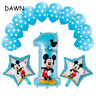 1st Birthday Party 13pcs Disney Mickey Minnie Foil Helium Balloons FREE SHIPPING