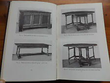 1930 OLD ENGLISH FURNITURE for the Small Collector FIRST EDITION Illustrated
