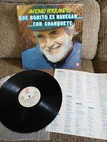 """ANTONIO Ferrandis Chanquete LP Vinyl vinyl 12 """" 1982 Saphir Spanisch Ed VG/VG"""