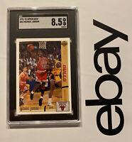 Michael Jordan SGC 8.5 Upper Deck Card #44 Chicago Bulls INVEST 1991 Last Dance