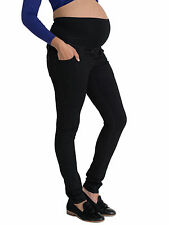 Black SKINNY Maternity Jeans Over Bump Petite Long Plus Size for Pregnancy 18 Tall L34
