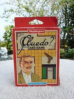 Vintage Cluedo Card Board Detective Game Waddingtons 1992 Boxed Missing 1 Card