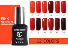 CHARM CHICA Red Series Nail Art Gel Soak off UV LED Manicure Gel Polish Kit