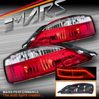 Crystal Eye Clear Red LED Tail Lights for JDM Nissan 200SX Silvia S15 Coupe