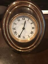 Cartier pendulette desk travel alarm clock