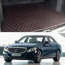 Premium Car Trunk Mat Leather Waterproof Fit for 2015-2017 Mercedes-Benz C-Class