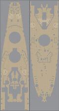 Pontos Model 1/350 USS BB-63 Missouri Wooden Deck Set (Natural tone) for Tamiya